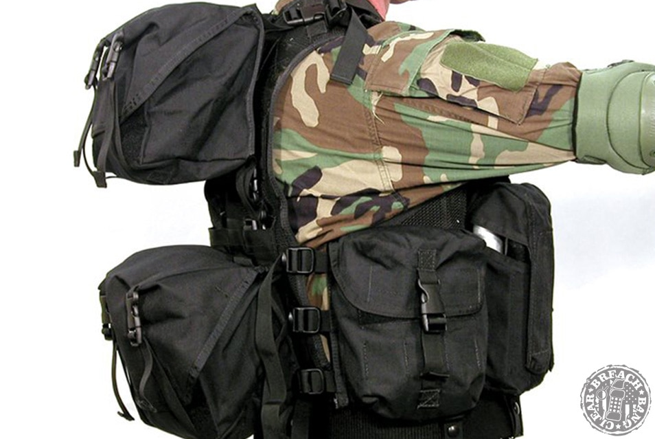 Blackhawk tactical vest with all the bells and whistles attached.