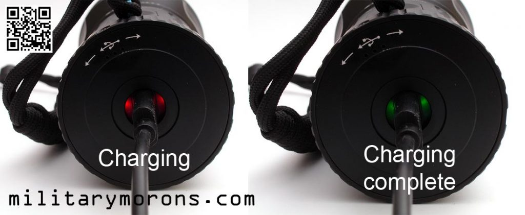 X7R Charge Indicator Lights