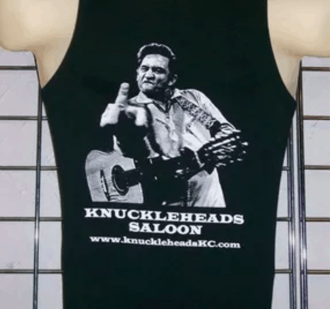 Johnny Cash Flippin' Bird Knuckleheads Saloon