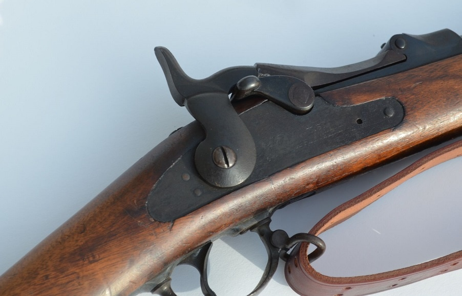 Up-close image of Springfield M1873 action.