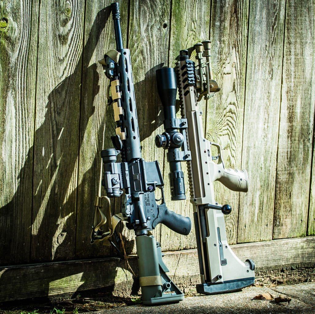 Breach Bang Clear Gun News and Gun Reviews - Bullpup Goodness, the Desert Tech SRS-A1 Covert Precision Rifle