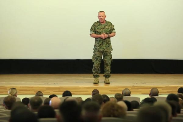 Army Officer Public Speaking