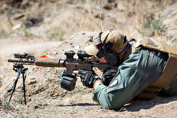 Russell Phagan using the KE-15 Action Carbine for competition.