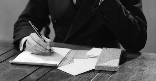 Writing a letter, from the Art of Manliness