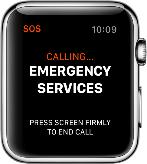 Smartphone -Smartwatch - SOS Tactical News - Apple Watch used to call first responders, SOS for her