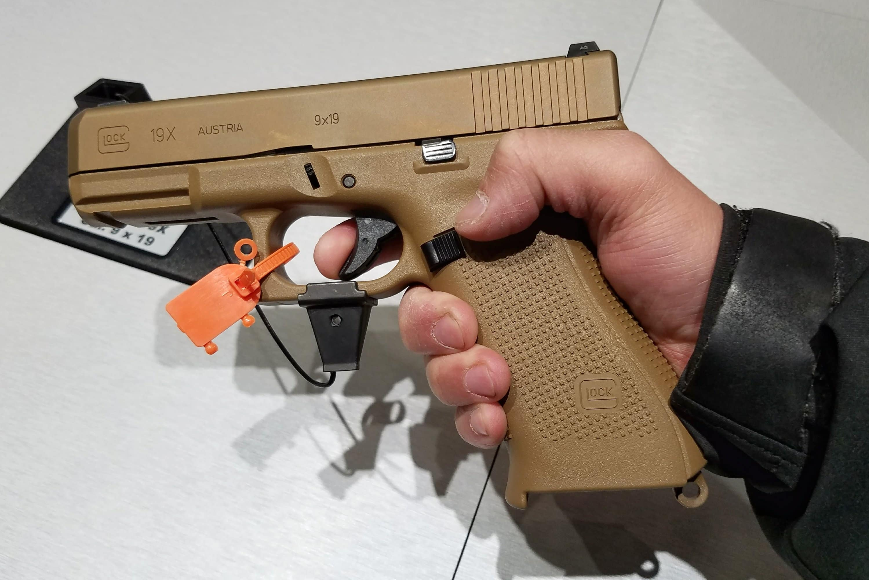 The Glock 19X on display at SHOT Show 2019.
