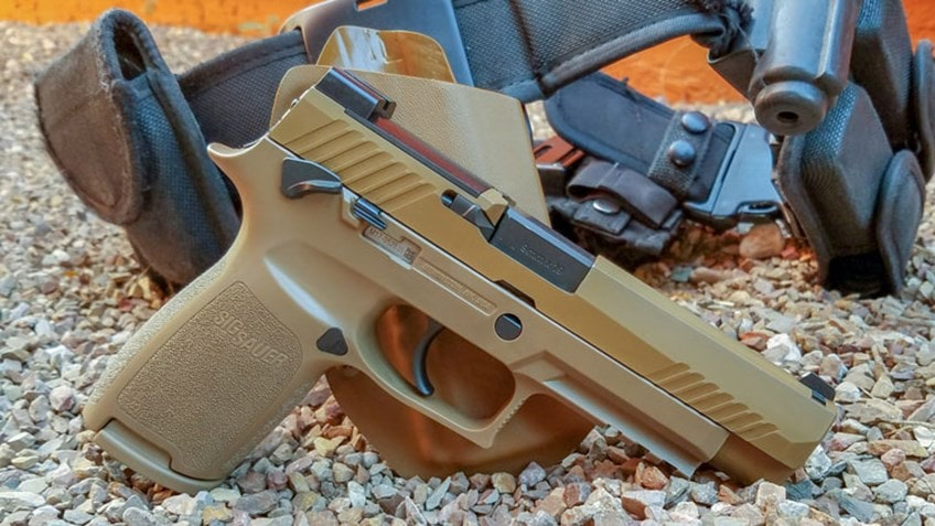 SIG P320-M17 from a review by Andrew Butts on American Rifleman