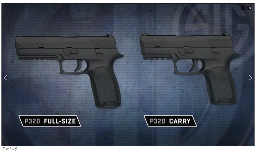 SIG P320 as seen on Soldier Systems Daily prior to SHOT Show 2014