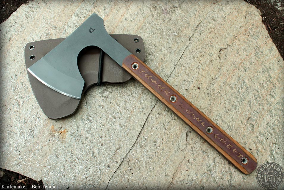 A fixed blade from Ben Tendick and BRT Bladeworks.