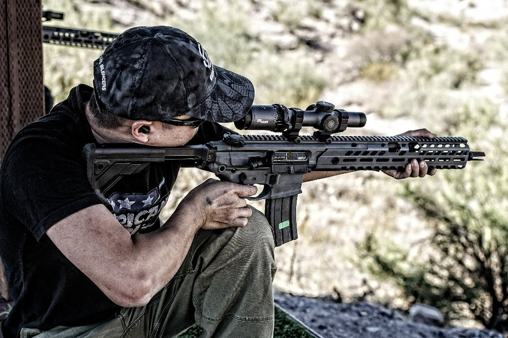 Image of Fifty Shades of FDE using Etymotic GunSport Pro 15 Electronic Earplugs