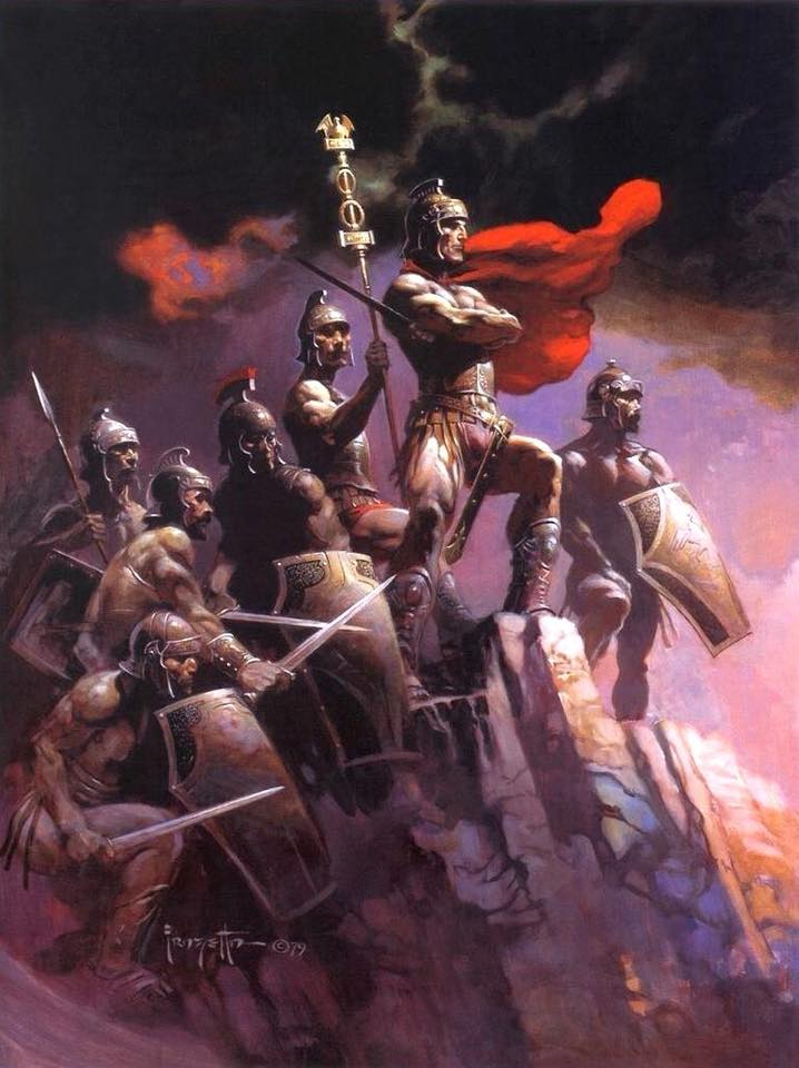 Frank Frazetta is, in our estimation, one of the greatest artists of all time. His works are timeless classics of masculinity, sexuality, and general badassery. February is Frazetta Month on Breach-Bang-Clear.