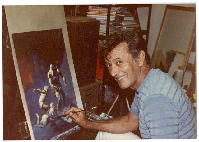 frank frazetta self portrait