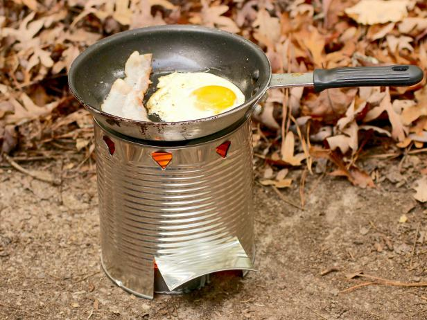 The simple Hobo Stove breakfast.