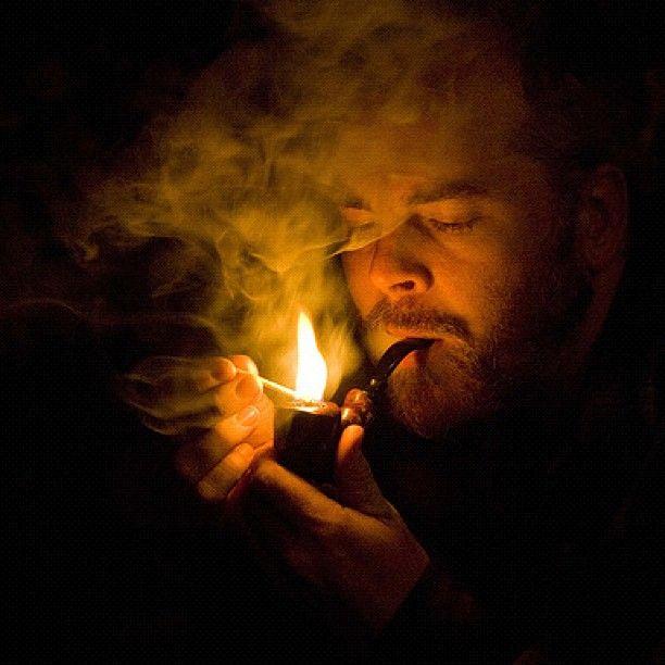 Contemplative Pipe Smoking