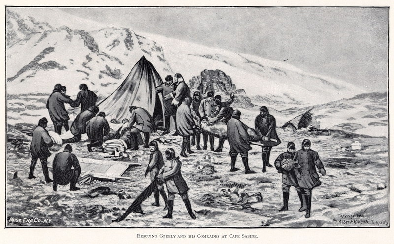 The Greely Expedition to the Arctic turned to cannibalism - news of an event, product, or a development should not be interpreted as an endorsement of it.
