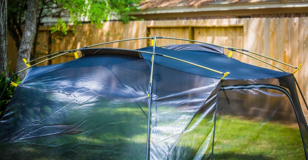 Slumberjack roughhouse: Heavy steel side does support the top rails, which are lightweight.