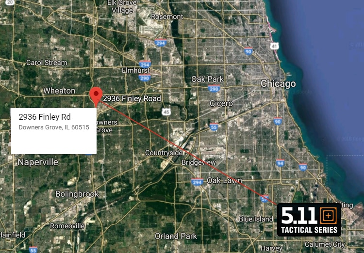 5.11 Tactical Retail Store Downers Grove IL - Location - map 1