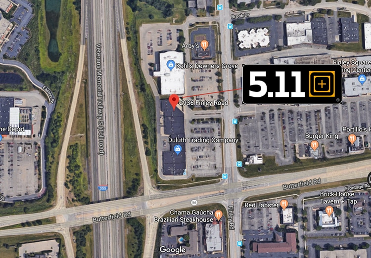 5.11 Tactical Retail Store Downers Grove IL - Location map 1