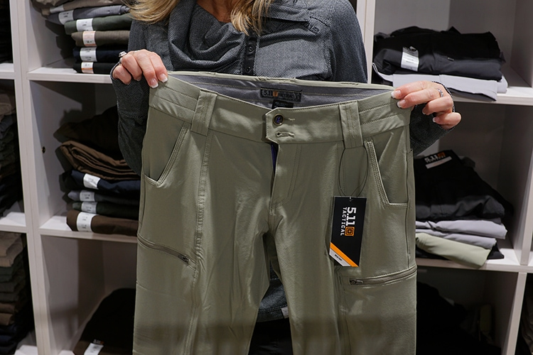 Chicago's 5.11 Tactical Retail Store is in Downers Grove - these are the Mesa pants for ladies.