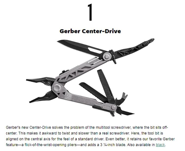 Gerber Gear Center Drive