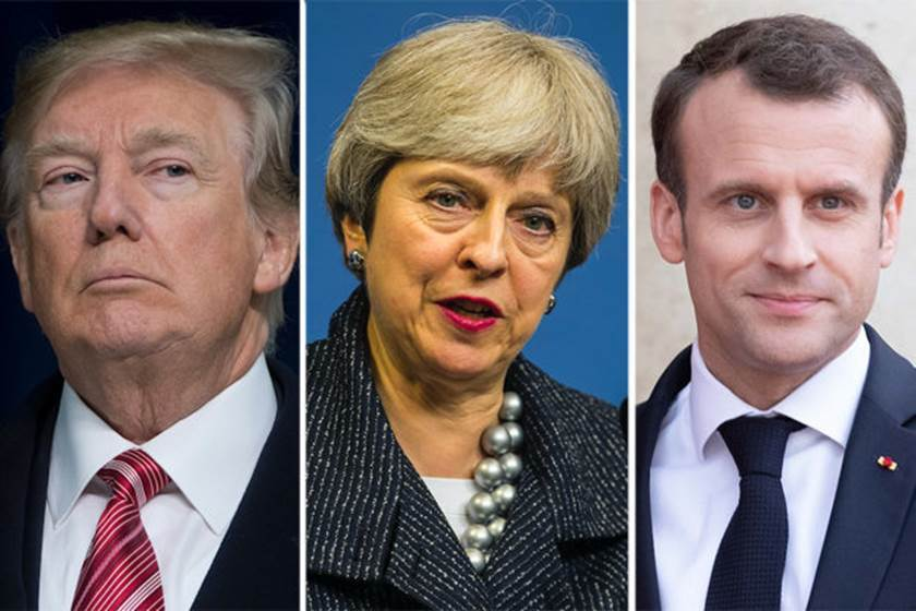 Trump, May, Macron respond to chemical attacts in Syria