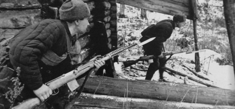 Russians with SVT-40s.