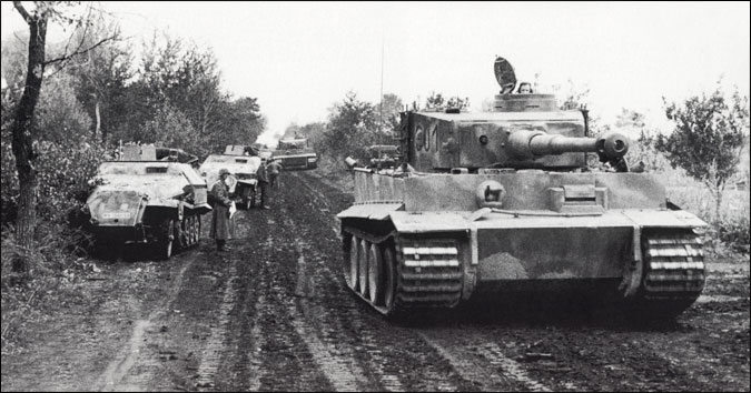 A Tiger tank on the move