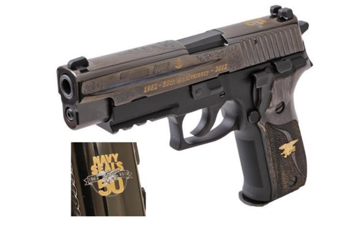 Proven Arms & Outfitters 50th anniversary Navy SEALS SIG SAUER limited edition pistol.