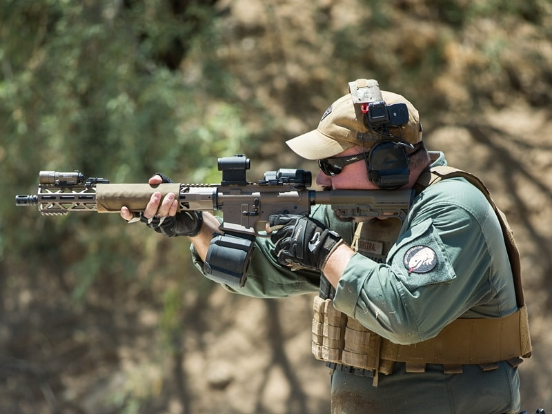 Phagan regularly demonstrates the KE15 Action Carbine's effectiveness at shooting competitions.