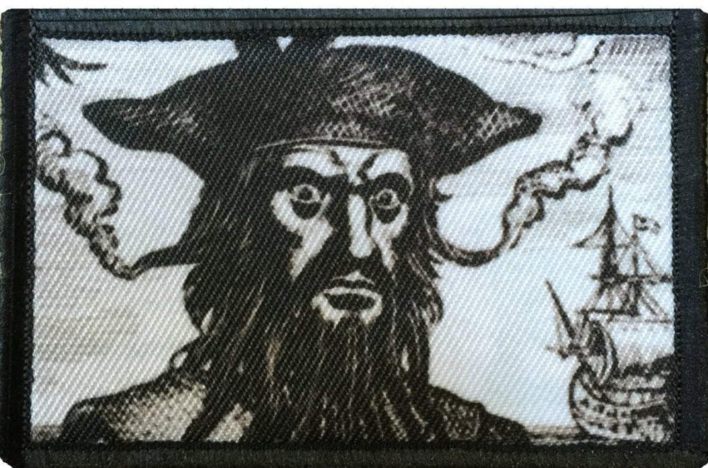 Blackbeard the pirate - a morale patch from The Official Patch Place.