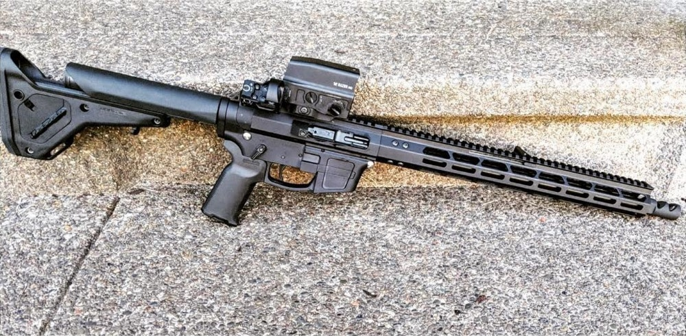 Ultralight Monolithic AR-15 Upper Receiver on rifle