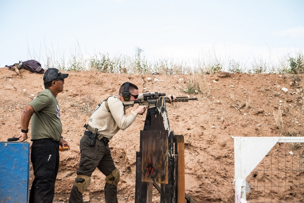 KE Arms' Jordan Henderson Engages long range rifle targets with KE-15 Shooting Team Rifle equipped with Vortex Razor 1-6x