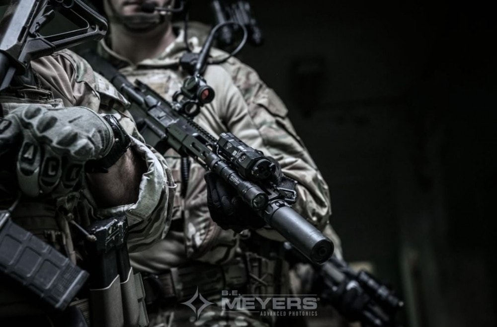 MAWL - BE Meyers IR NIR Green laser with VCSEL technology - Modular Advanced Weapon Laser in use by special operations forces.