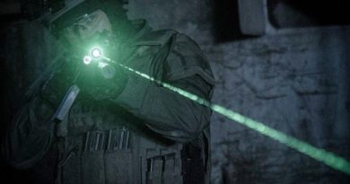 MAWL - BE Meyers IR NIR Green laser with VCSEL technology - Modular Advanced Weapon Laser in use by SWAT officers.