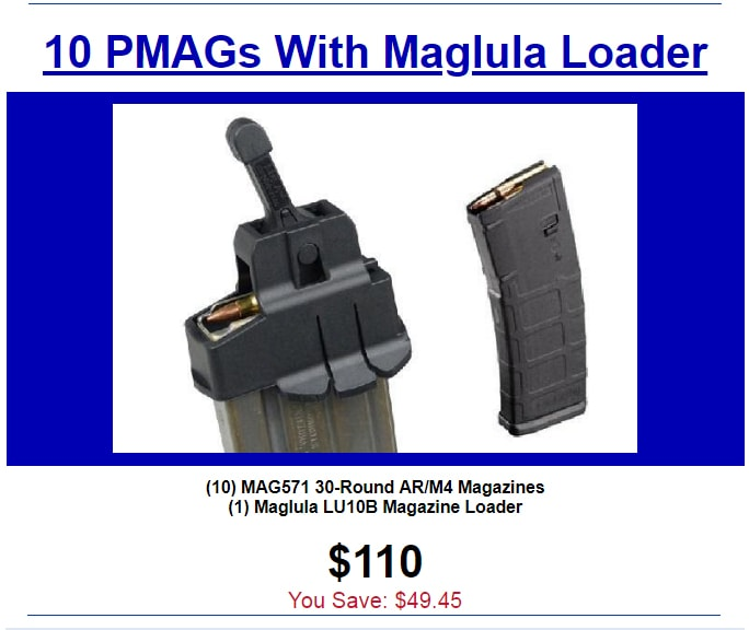 PMAGs and Maglula Loader on special at Proven Arms & Outfitters.