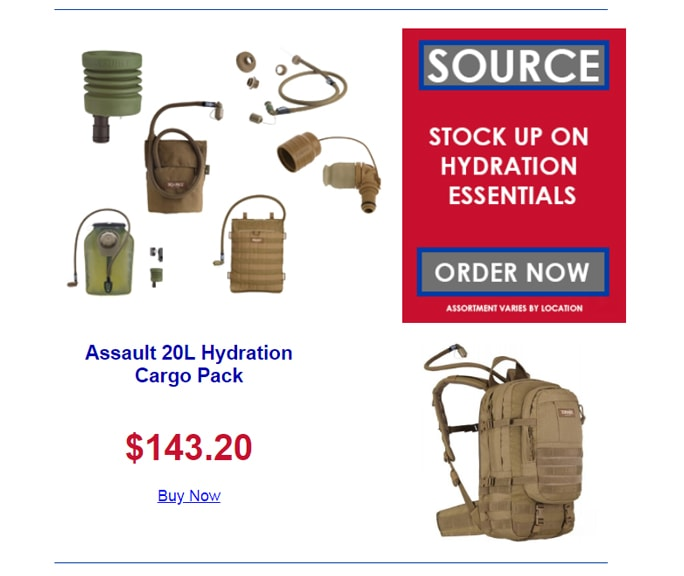Source Tactical Hydration - Assault 20L Hydration Cargo Pack