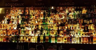 What are the best types of rum? This display shows many kinds of rums.