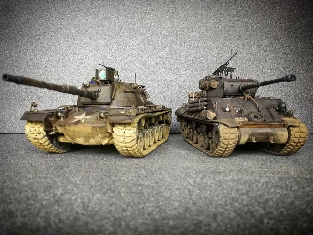 In this installment of tank week: 5 of the best scale model tank modelers around: Patton tank and Sherman tank.