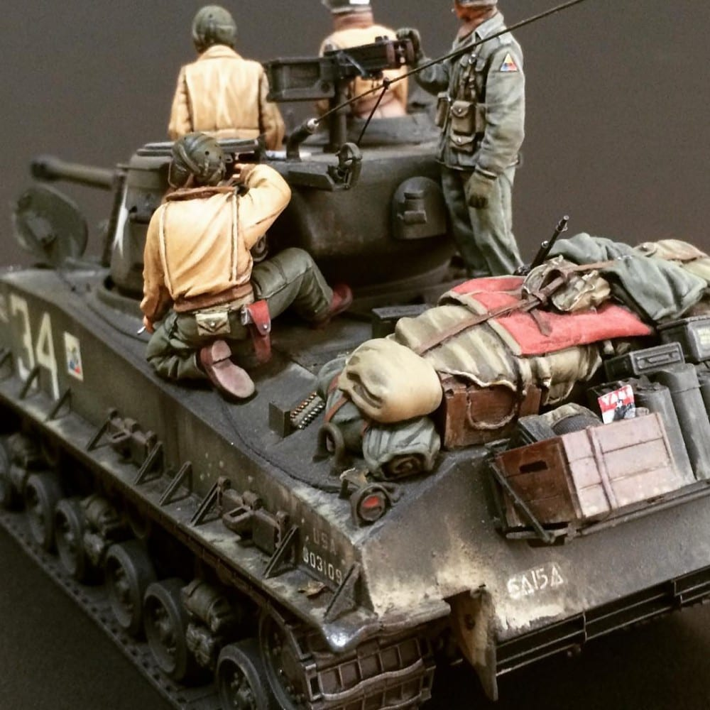 In this installment of tank week: 5 of the best scale model tank modelers around: an M4A3E8 of the 6th Armored.