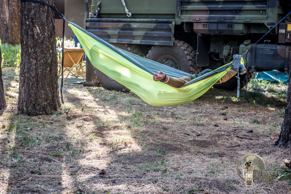 Relaxing at Overland Expo