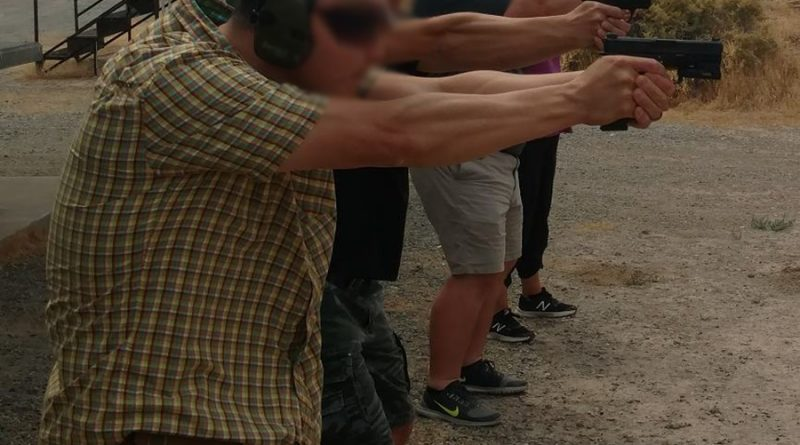Should you take an evasive step when you draw your weapon in response to a threat?
