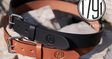 1791 Gunleather holster belts available in classic brown or stealth black.