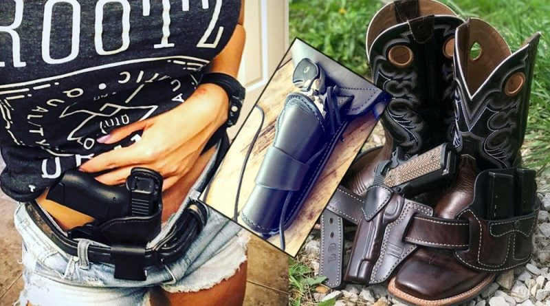 A gunleather threesome: 3 craftsmen who hand-make custom leather holsters.