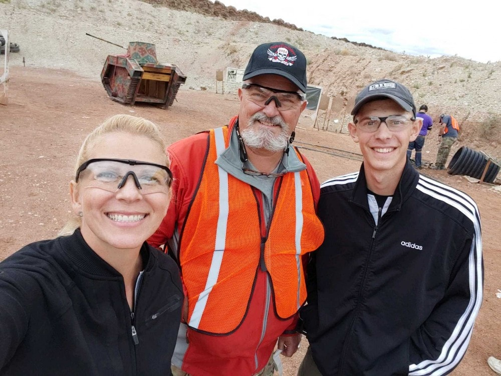 Becky and Tim Yackley with one of the staffers at Red Oktober.