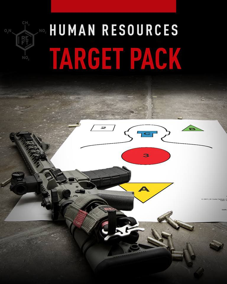 RE Factor Tactical paper shooting target - target pack