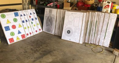 Stock up your garage or storage shed with RE Factor paper targets. Get some real training in.