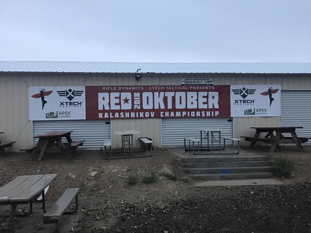 Red Oktober begins with an overcast, wet morning at the Southern Utah Practical Shooting Range.