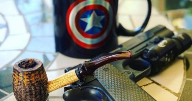 Lunting with a good tobacco, a good coffee, the greatest superhero, and an outstanding pistol.