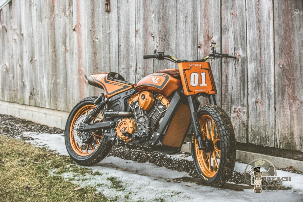 Midwest Motorcycle the Indian Scout in full profile