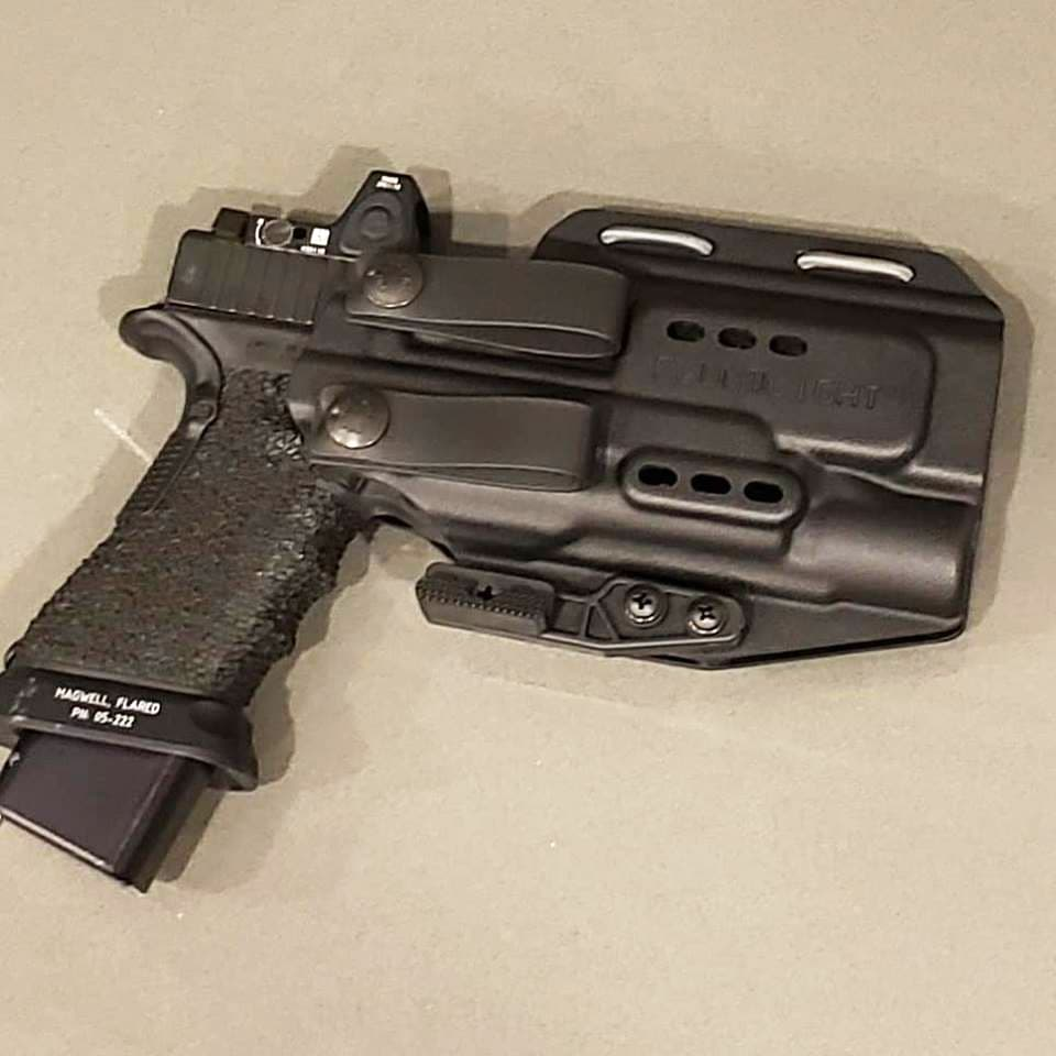 The PHLster Floodlight AIWB holster (appendix carry holster) from Primary & Secondary with a Glock 35 aboard.